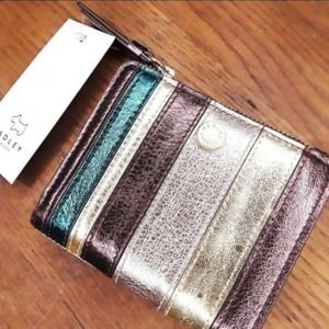 Radley London  Metallic Striped Leather Wallet NWT